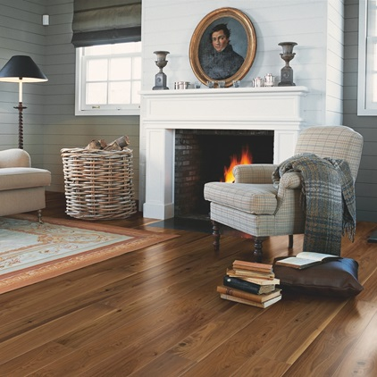 Dark brown Castello Parquet Noble walnut satin CAS1356SU