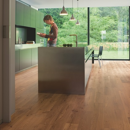 Natural Perspective Laminate Parchet de stejar de podgorie lăcuit natural UF995
