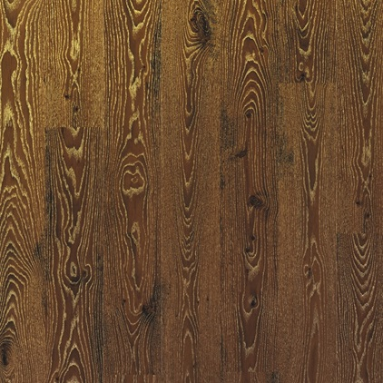 Dark brown Eligna Laminate Metallic cérusé oak gold EL3466