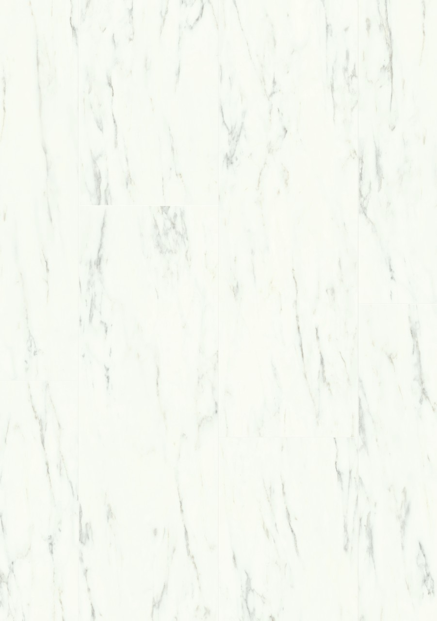White Ambient Rigid Click Vinyl Marble Carrara White RAMCL40136