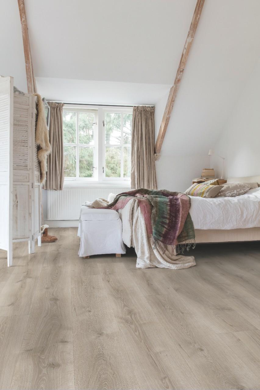 Light grey Majestic Laminate Desert Oak Brushed Grey MJ3552. Quick Step flooring   Wood  vinyl and laminate floors   Quick Step