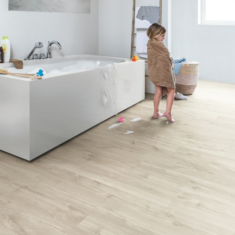 Light grey Balance Click Vinyl Canyon oak beige BACL40038