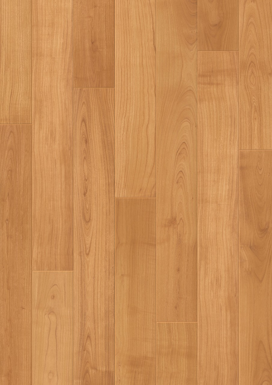 Uf864 natural varnished cherry quick for Why laminate flooring