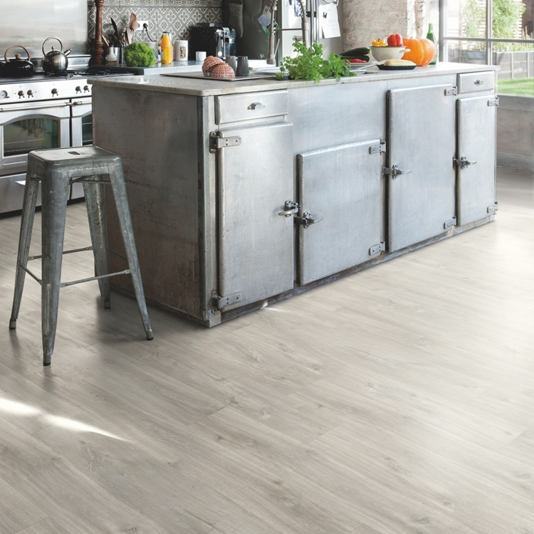 Light grey Balance Click Plus Vinyl Canyon oak grey with saw cuts BACP40030