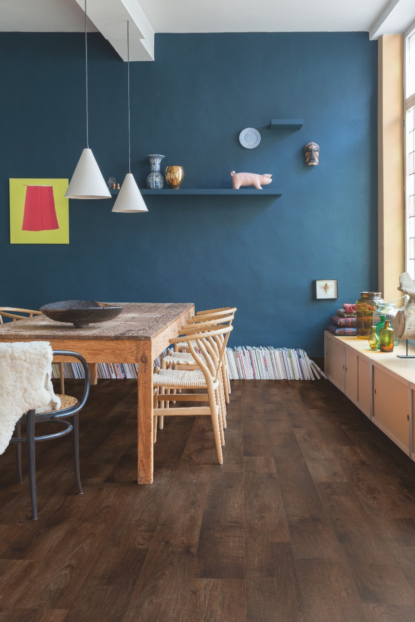 Bacp40058 pearl oak brown beautiful laminate wood for Quick step flooring ireland