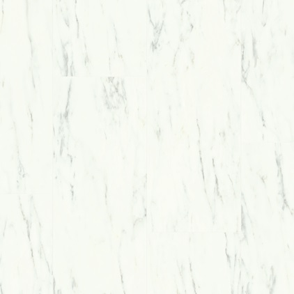 White Ambient Click Vinyl Marble Carrara White AMCL40136