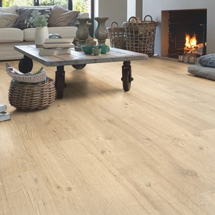 Beige Impressive Laminate Sandblasted oak natural IM1853