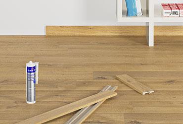 Uzlieciet perfektu apdari lamināta grīdas segumam