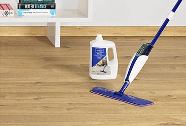 Worry-free maintenance with laminate flooring