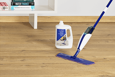 Worry-free maintenance with laminate flooring