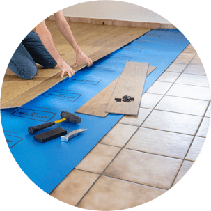 Vinyl flooring is ideal for renovation