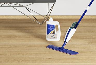 Worry-free maintenance with vinyl flooring