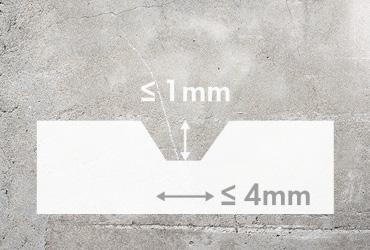 Düzensizliği az olan alt döşemeler için birbirine geçirmeli vinil zeminler