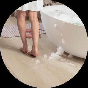 Vinila grīdas segums ir patīkama virsma staigāšanai