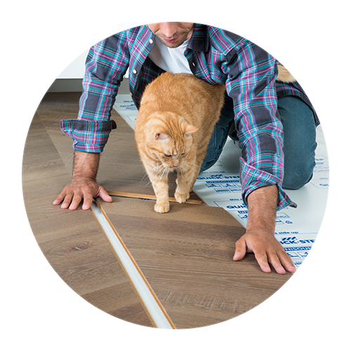 Easy to click hardwood flooring