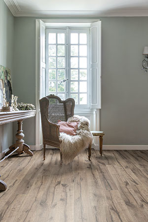 Shabby chic interieur met Quick-Step vloer