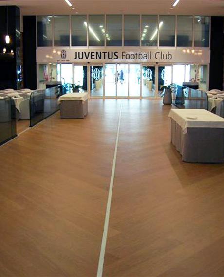 Quick-Step Largo laminate flooring at Juventus stadium