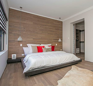 Quick-Step Variano Parquet as a trendy feature wall