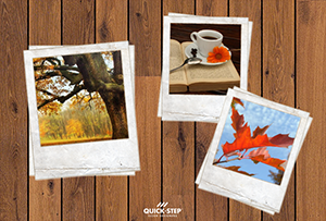 Autumn, the most colorful season. Nice and snug with dark oak