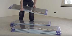 Green wooden flooring: Smaller packaging