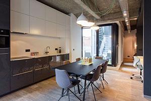 Modern loft with Quick-Step floor