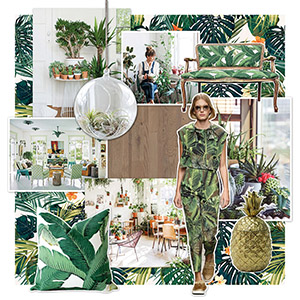 Jungle trend - green interior with Quick-Step