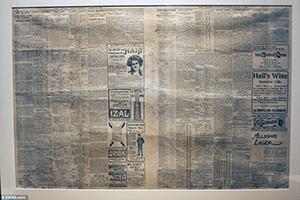 Newspaper under floors