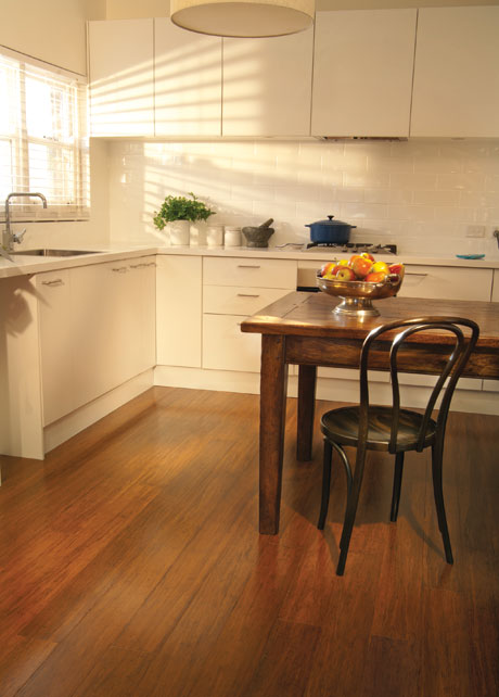 Quick-Step Bamboo in kitchen