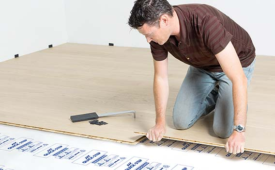 Floating installation wood flooring