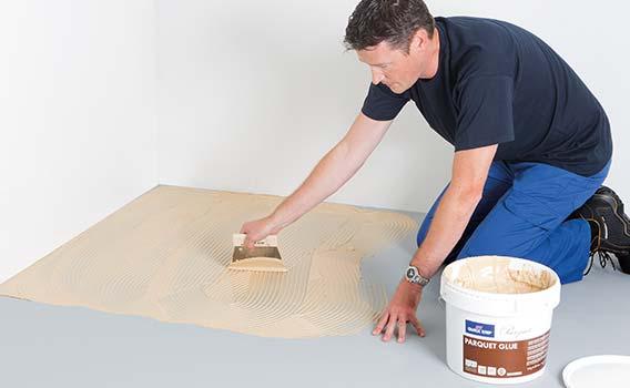 Glue-down installation