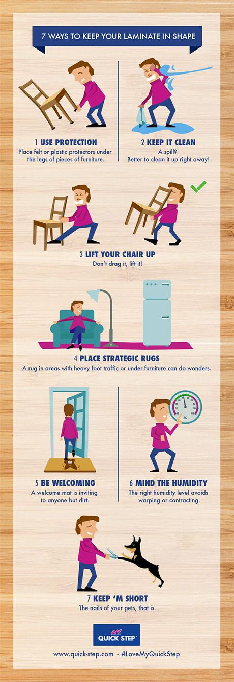 7 sposobów na utrzymanie laminatu w dobrym stanie;
