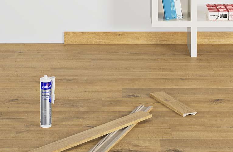 Finishing laminate floors