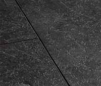 Vinyl flooring with stone structure