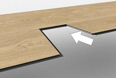 Vinyl floor floating installation