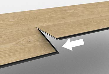 Vinyl flooring floating installation