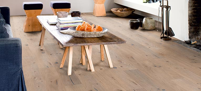 Quick-Steps extra large wood flooring with imperial look