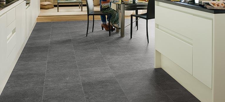 Tile effect laminate floor, Quick-Step Exquisa