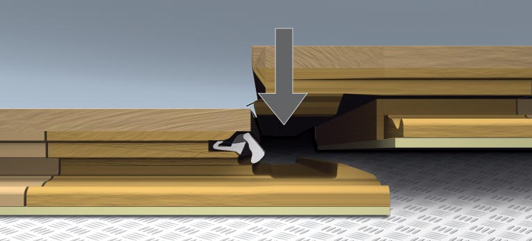 How to install your Quick-Step laminate, Method 3: Slide and click
