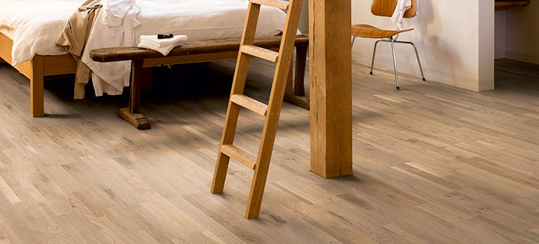Quick-Step's spanking new hardwood flooring