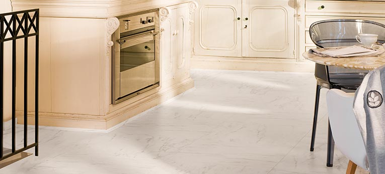 Dare to go square. Laminate Arte Marble Carrara
