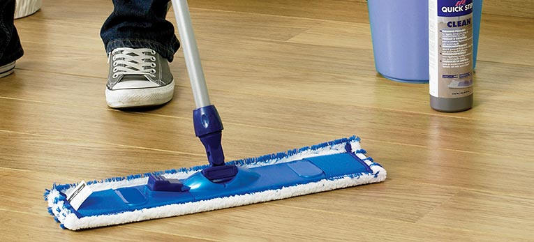 How to keep your floor in top condition: Use water sparingly when cleaning