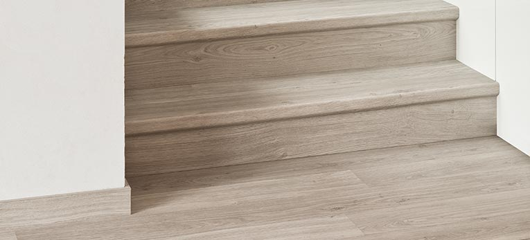 give your stairs a new look with laminate parquet or vinyl quick. Black Bedroom Furniture Sets. Home Design Ideas