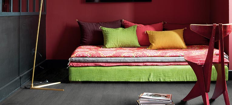 What colour does for your interior: red