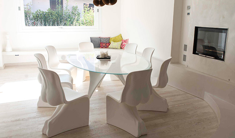 Quick-Step le sol en chêne peint blanc huilé variano, salle à manger