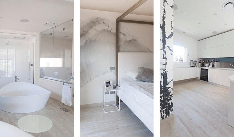 Quick-Step Variano, Painted white oak oiled, multi strip hardwood flooring