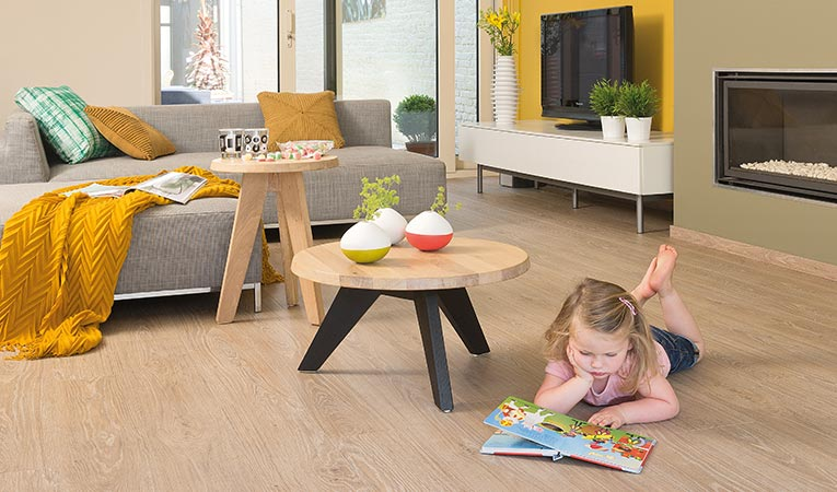Quick-Step livyn luxury vinyl flooring, living room