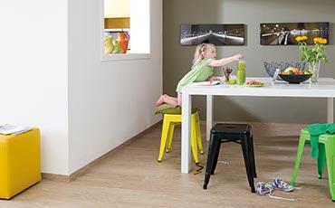 Quick-Step livyn luxury vinyl flooring, dining room