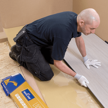 Quick-Step flooring installer