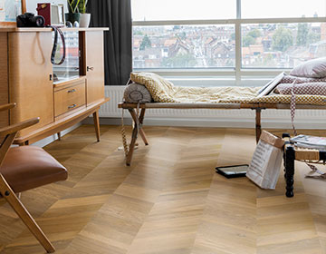 NEW chevron wood floors