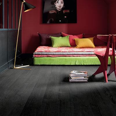 Black Flooring Laminate Vinyl Or, Black Wood Laminate Flooring